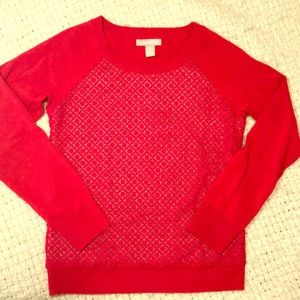 Banana Republic Red-Lace Sweater